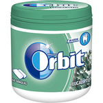 Orbit chicles eucalipto de 60g. en bote