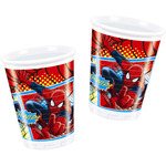 Spiderman vaso decorado 8 de 20cl. en paquete