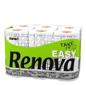 Renova papel higienico take it easy 12 rollos en paquete