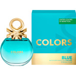 Benetton colors blue eau de toilette natural femenina de 80ml. en spray