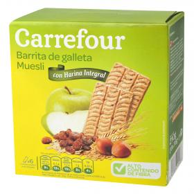 Carrefour galleta barritas muesli de 210g.