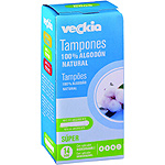Veckia tampon super algodon natural con aplicador biodegradable 14
