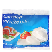 Carrefour queso mozzarella italiana de 125g.