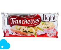 Tranchettes queso en lonchas light kraft 16 de 300g.