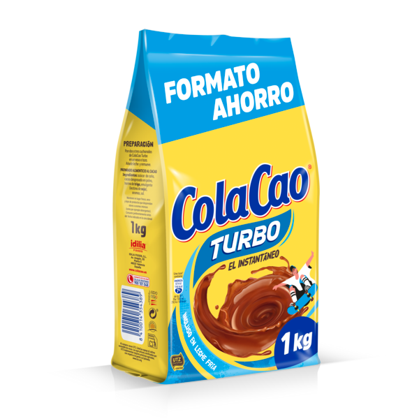 Cola Cao Turbo cacao soluble de 1kg. en bolsa