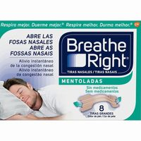 Tira nasal mentol breathe right por 8 unidades