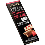Lindt hello strawberry cheesecake chocolate con leche relleno crema tarta queso fresa tableta de 100g.