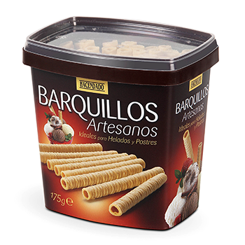 Hacendado barquillo neula tubo artesano helado de 175g. en caja