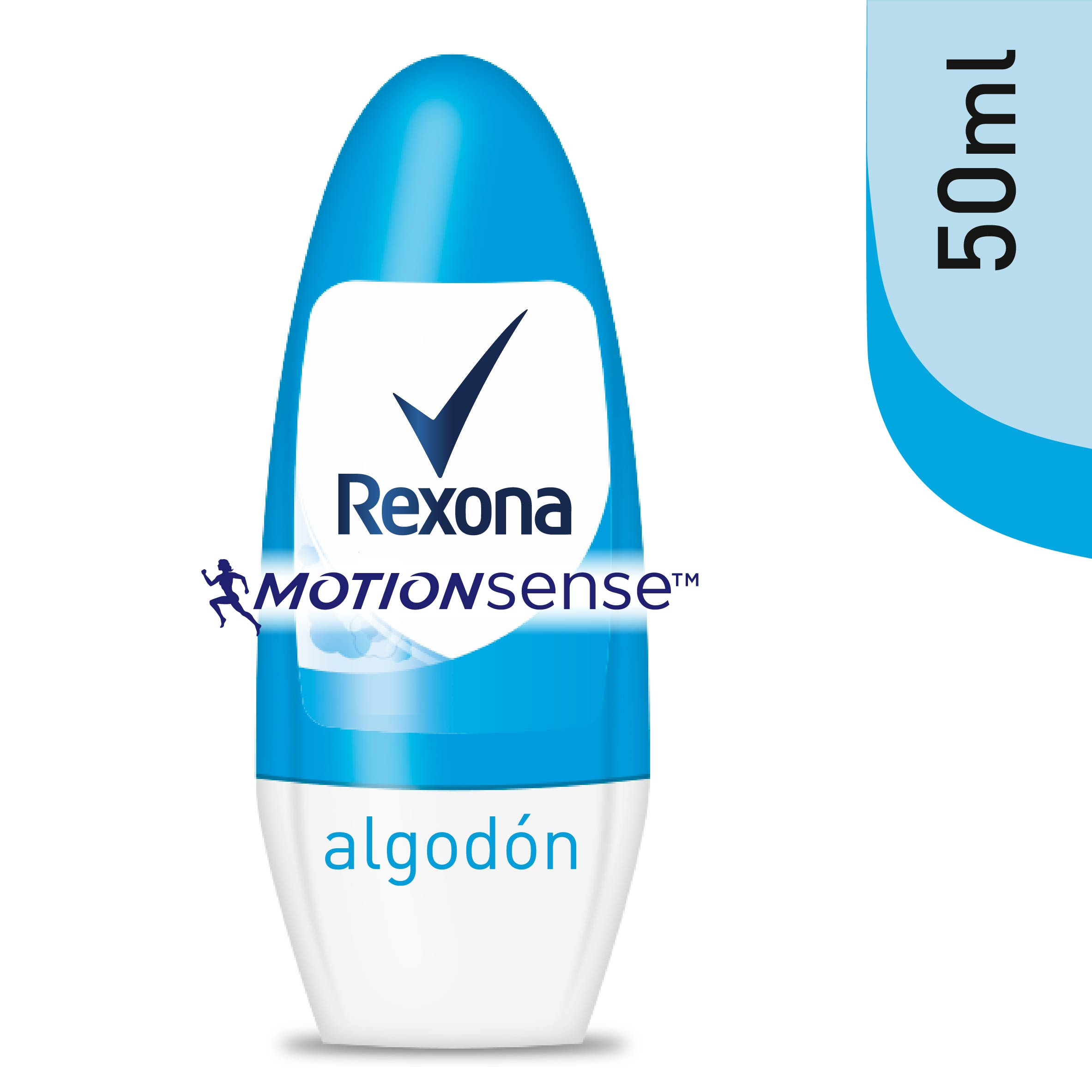 Rexona women desodorante roll on algodon de 50ml.