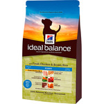 Hill's Ideal Balance puppy alimento natural cachorros con pollo arroz envase de 12kg.