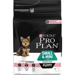 Purina Pro Plan puppy small & mini alimento especial cachorros raza mini piel sensible de 3kg. en bolsa