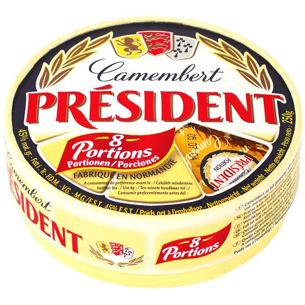 Président queso entero camembert