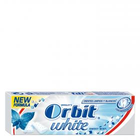 Orbit chicle menta suave white de 13g.