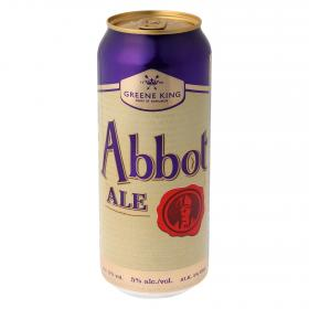 Cerveza abbot ale greene king de 50cl.