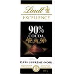 Lindt chocolate excellence 90% cacao de 100g.