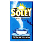 Soley cafe descafeinado natural molido de 250g. en paquete