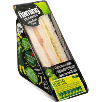 Naming sandwich vegetal de 130g.