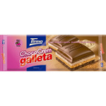 Tirma chocolate relleno crema galleta tableta de 140g.