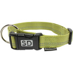 San Dimas collar nailon color verde medida 25 mm