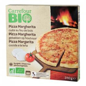 Carrefour pizza margarita bio de 310g.