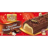 Carte D'or tronco navidad con sabor 3 chocolates de 1l.