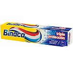 Binaca pasta dientes triple proteccion anticaries tubo de 75ml.