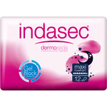 Indasec compresa incontinencia dermo seda maxi good night 12 en paquete
