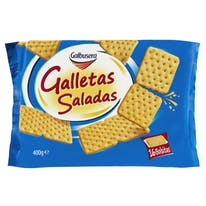 Cracker galleta salada, galbusera, x 16 de 400g.