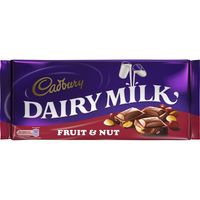 Dairy milk fruit&nuts, tableta de 200g.