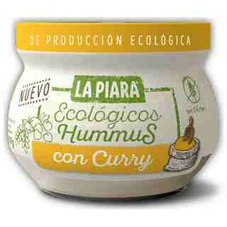 La Piara hummus con curry eco de 200g.