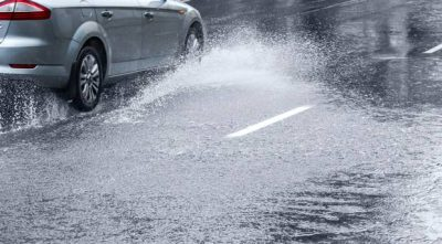 driving safely in the rain