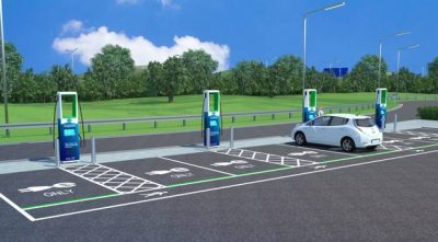 electric car charging network