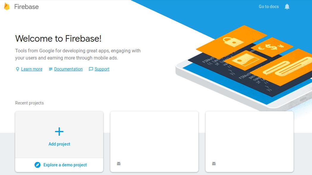 Firebase API Console