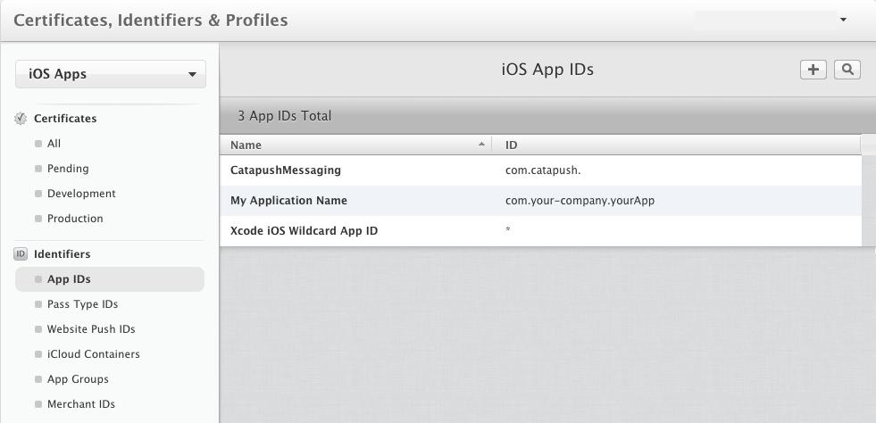 Registering App ID