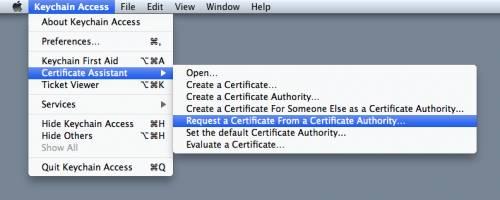 Certificate request generation