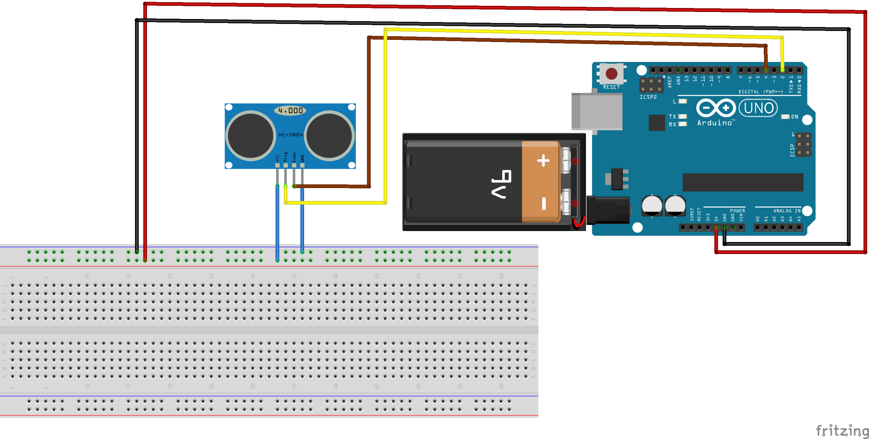 How to connect Distance Sensor to Arduino Uno?