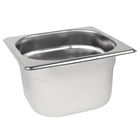 Stainless Steel 1/6 Gastronorm Pan 100mm