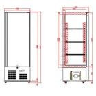 Tefcold RF500 Upright Freezer