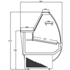 Frilixa Vista II Curved Range Serve Over Counter