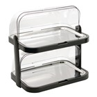 APS CB794 Double Decker Roll Top Cool Display Trays