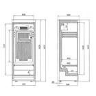 Tefcold FS1280 Glass Door Merchandiser