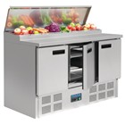 Polar G605 Refrigerated Pizza and Salad Prep Counter 390Ltr
