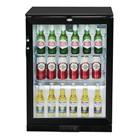 Polar GL001 Single Door Back Bar Cooler in Black with LED Lighting
