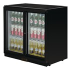 Polar GL003 Back Bar Cooler with Sliding Doors in Black 208Ltr