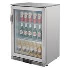 Polar GL007 Stainless Steel Single Door Back Bar Cooler with LED Lighting