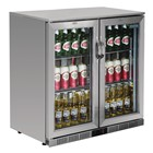 Polar GL008 Double Hinged Door Back Bar Cooler with LED Lighting