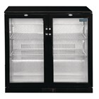 Polar GL012 Double Hinged Door Back Bar Cooler in Black with LED Lighting