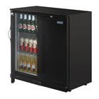 Polar GL016 Back Bar Cooler Double Solid Hinged Door