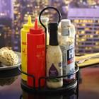 TableCraft Versa Condiment Rack, Steel, Black, 18.42 x 18.42 x 26.04 cm