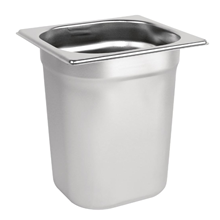 Stainless Steel 1/6 Gastronorm Pan 200mm | 1/6 Gastronorm Container